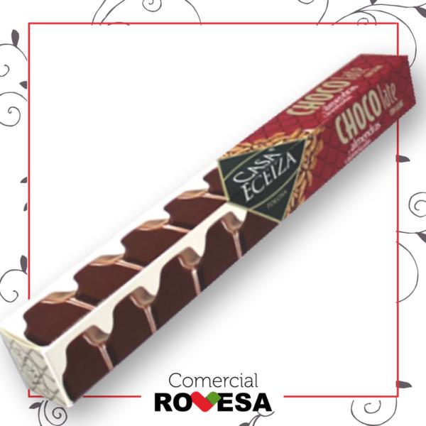 Barra chocolate con leche con almendras Casa Eceiza