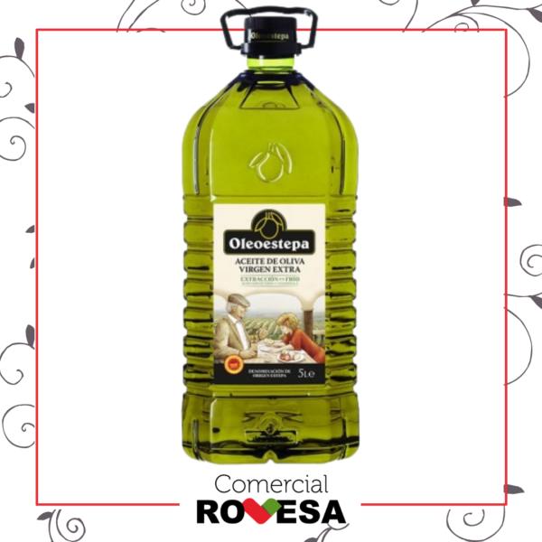 Aceite Oliva Virgen Extra Oleoestepa envase PET de 5 LTR