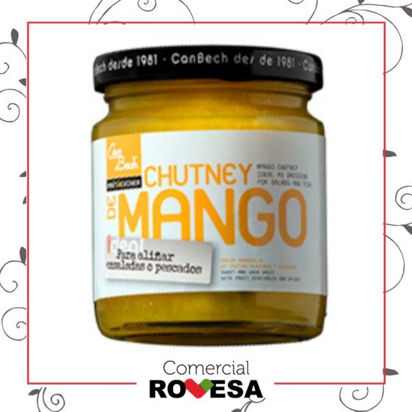 Chutney de mango con pimiento verde Can Bech